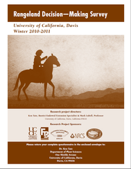 Front Cover of Rancher Decision Making Survey