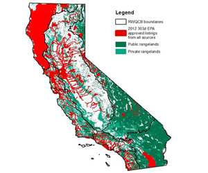 Map of California Water Quality Impairments
