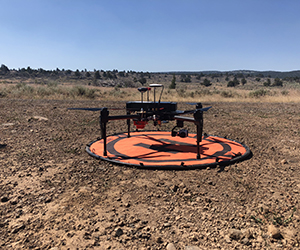 drone with rangeland in background